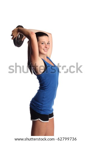 Fit teen working out