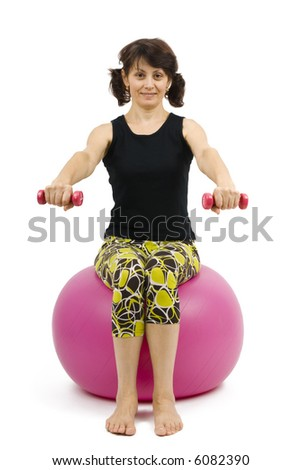 Fitness +40. - stock photo