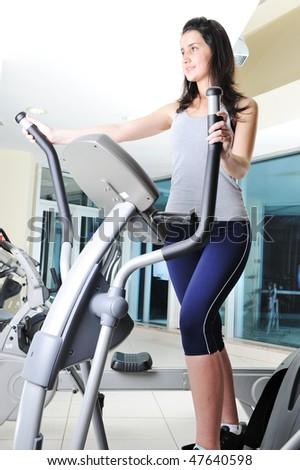 Fitness active girl - stock photo