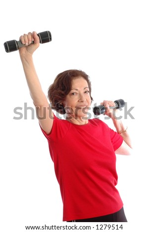 fitness at fifty - stock photo