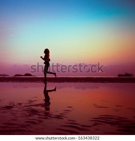 fitness background - stock photo