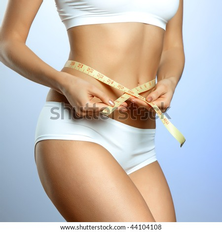 fitness body - stock photo