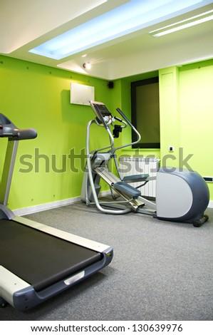 fitness center interior - stock photo