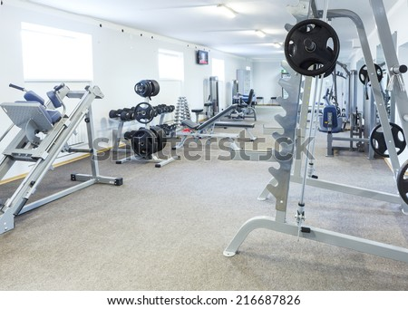 Fitness club interior. - stock photo