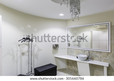 Fitness club toilet - stock photo