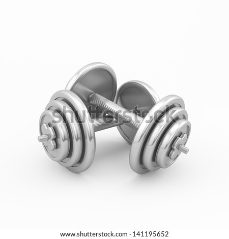 fitness concept (dumbbells) - stock photo