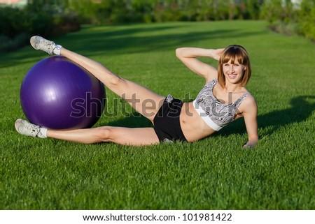 Fitness exercises - stock photo