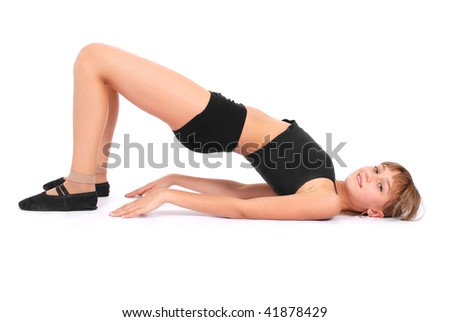 Fitness Girl on white background