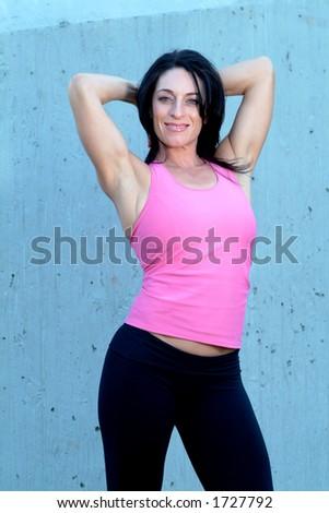fitness instructor - stock photo