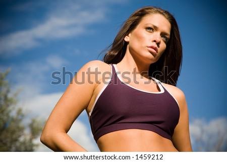 Fitness shoot - stock photo