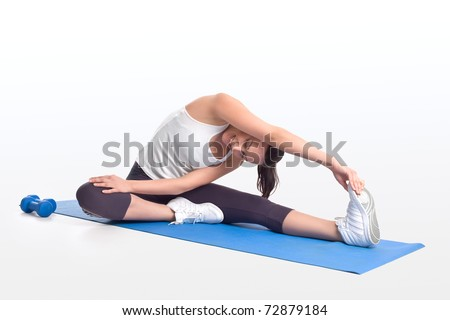 Fitness stretching - stock photo
