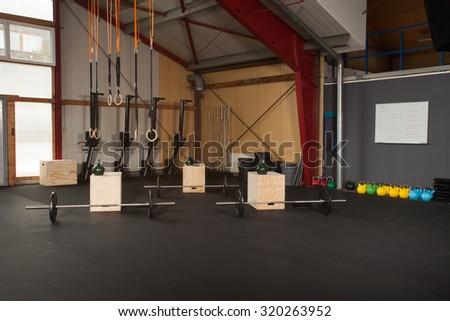 fitness studio - workout box - stock photo