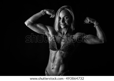 Fitness woman in  sexy sport clothes