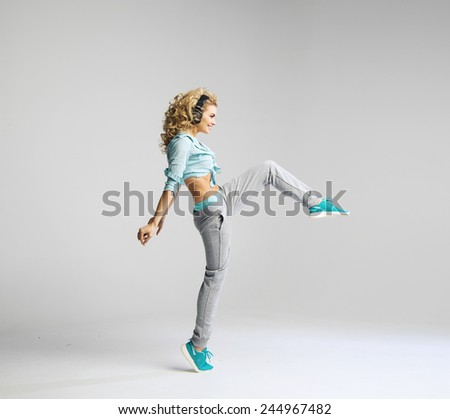 Fitness woman working out - stock photo