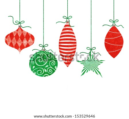 Vintage Christmas Ornaments Png