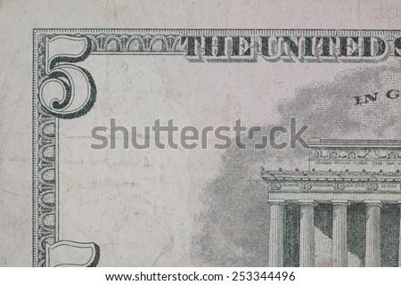 Five dollar - stock photo