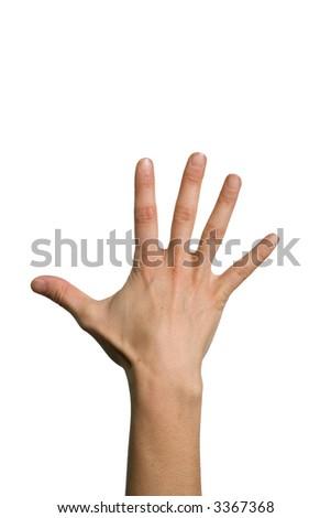 five fingers - stock photo