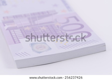 Five hundred euro banknotes. - stock photo