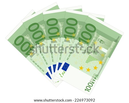 five hundred euro illustration. - stock photo