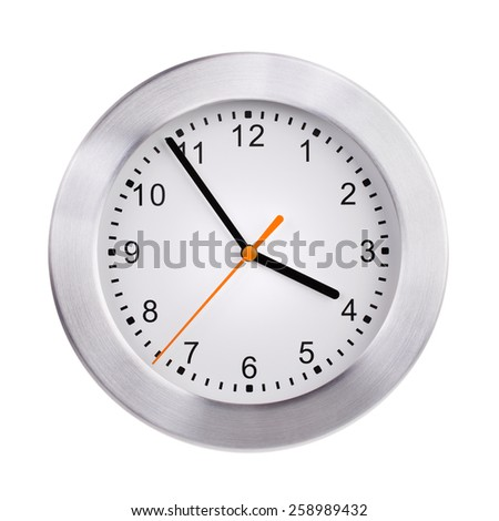 Five minutes to four hours on the dial - stock photo