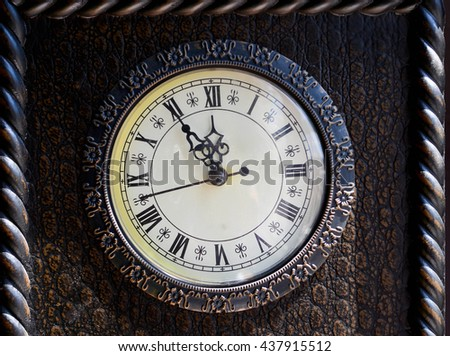 Five minutes until twelve o'clock. Time limit concept. - stock photo
