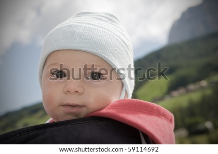 Five months old baby. - stock photo