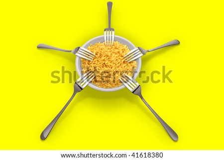 Five plugs and plate - stock photo