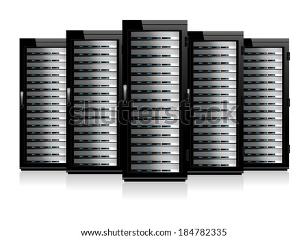 Five Serves - Information technology conceptual image  - Raster Version