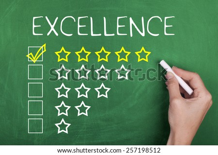 Five Star Rating / Excellent - stock photo