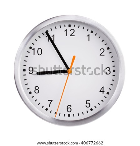 Five to nine o'clock on the dial - stock photo