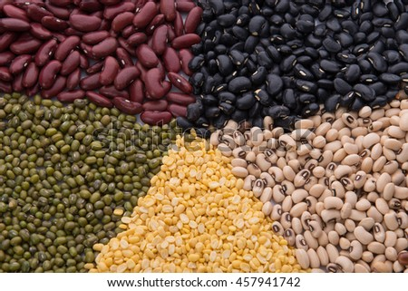 Five type of beans mixed