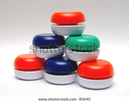 Five Yo Yo Pyramid - stock photo