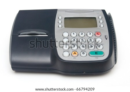 Fixed Credit Card Terminal with Hand