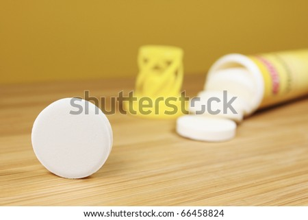 fizzy tablet - stock photo