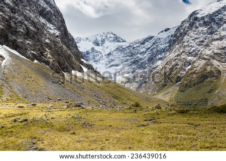 Fjordland National Park, Southern Alps, New Zealand  - stock photo