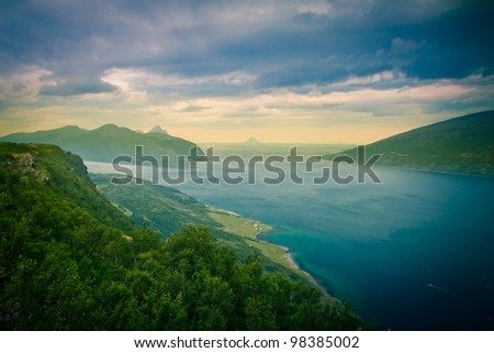Fjords in Norway - stock photo