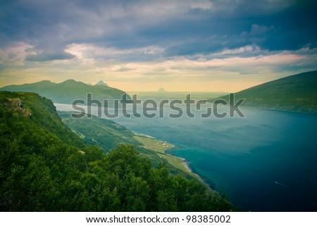 Fjords in Norway - stock photo