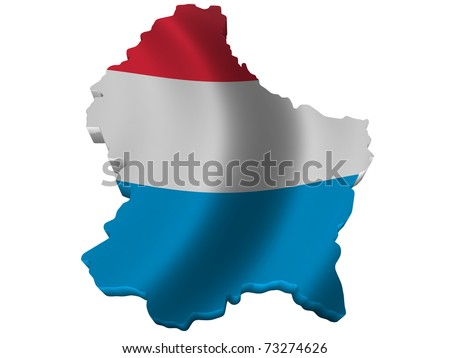 Flag and map of Luxembourg