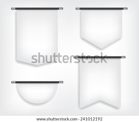 Flag banner different shapes illustration - stock photo