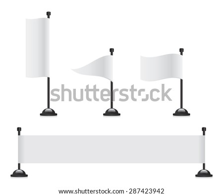 Flag banner set - stock photo