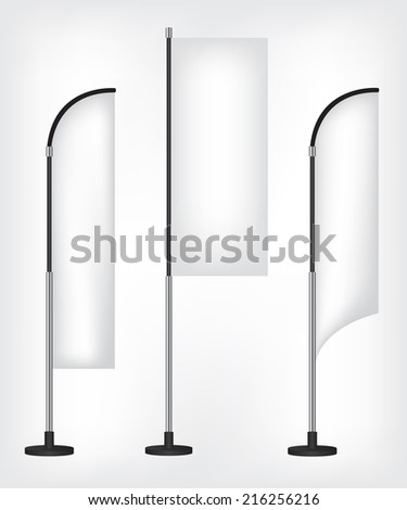 Flag banner stand - stock photo