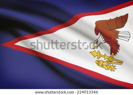 Flag blowing in the wind series - American Samoa - stock photo