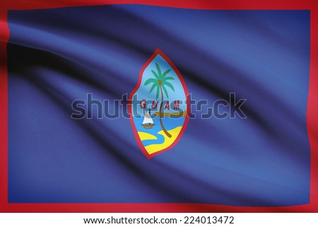 Flag blowing in the wind series - Guam - stock photo