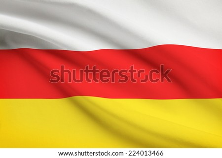 Flag blowing in the wind series - South Ossetia - stock photo