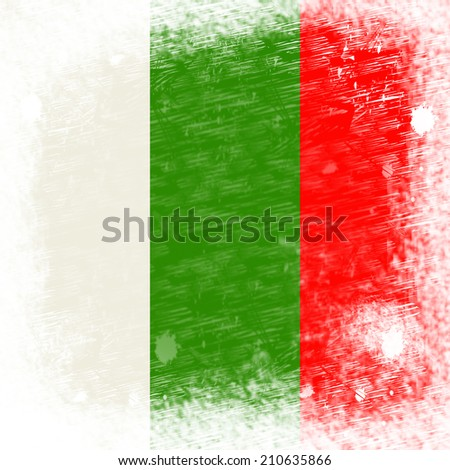 Flag Bulgaria Showing Empty Space And Blank