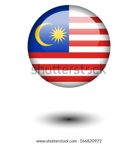 Flag button illustration - Malaysia