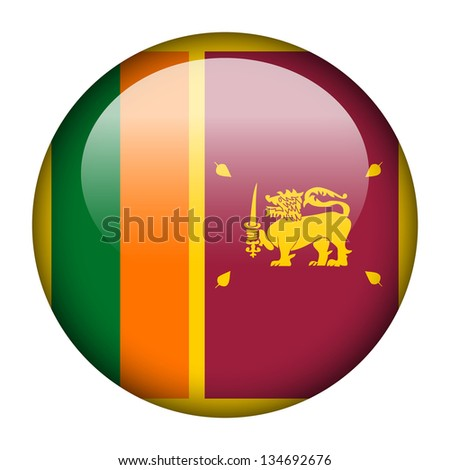 Flag button illustration - Sri Lanka - stock photo