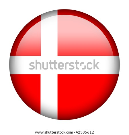 Flag button series of all sovereign countries - Denmark - stock photo
