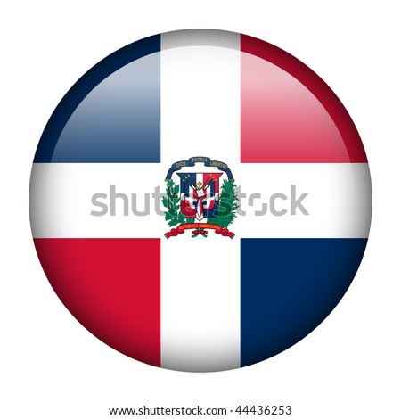 Flag button series of all sovereign countries - Dominican Republic
