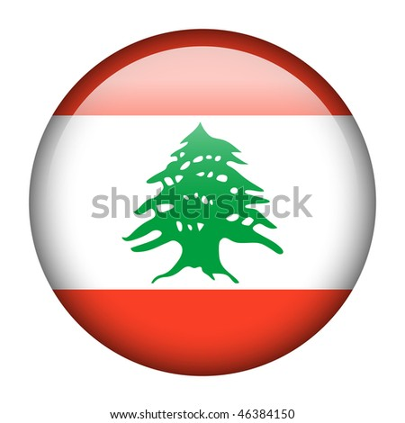Flag button series of all sovereign countries - Lebanon